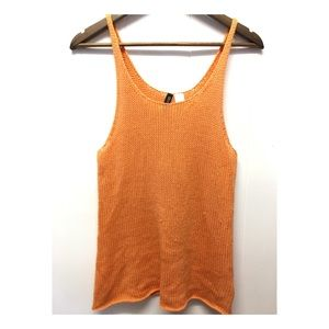 Divided | Orange Knit Tunic Tank Top Summer Vibe